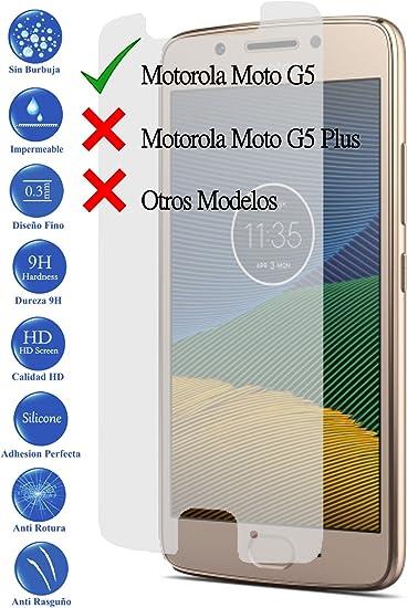 Todotumovil Protector de Pantalla Motorola Moto G5 5.0 de Cristal ...