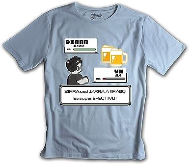 Fanisetas - Camisetas Divertidas - Camiseta Combate Pokemon Birra: Amazon.es: Ropa y accesorios