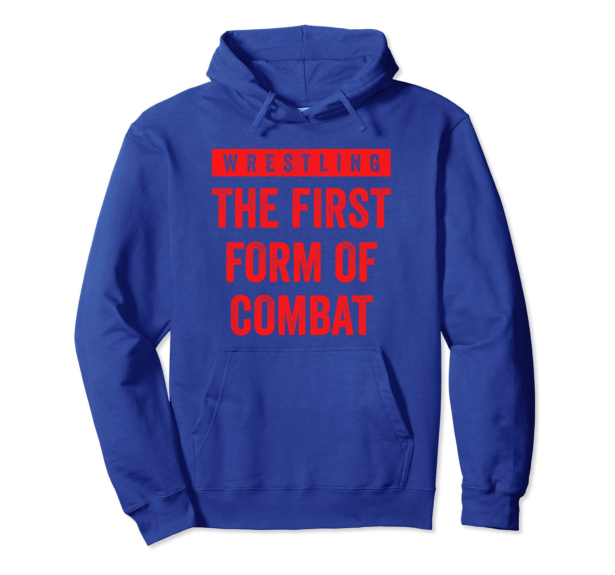 Unisex Wrestling First Form of Combat Hoodie for Wrestlers, Red 2XL Royal Blue by Wrestling Shirts and Wrestling Shoes