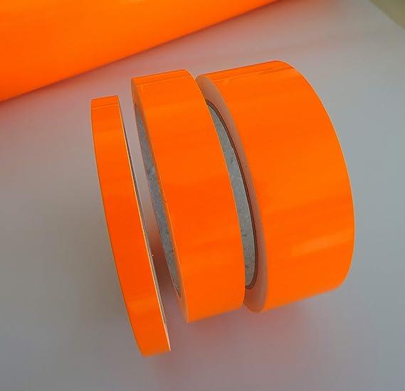 Siviwonder Zierstreifen Neon Orange In 5 Mm Breite Und 10 M Länge Für Auto Boot Jetski Modellbau Klebeband Aufkleber Dekorstreifen Folie Neonorange Neonaufkleber Fluor Auto