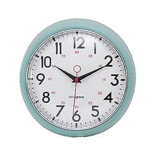 "kieragrace Retro wall-clocks, 9.5"", Green"