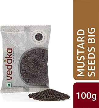 Amazon Brand - Vedaka Mustard Seeds (Rai) Big , 100g