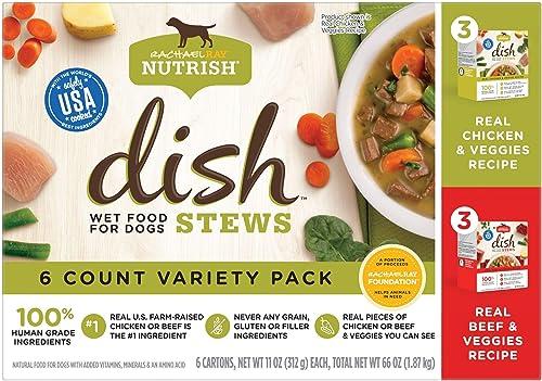 Rachael Ray Nutrish Dish Stews Wet Dog Food, 11 Ounce Tub 6 Pack , Grain Free