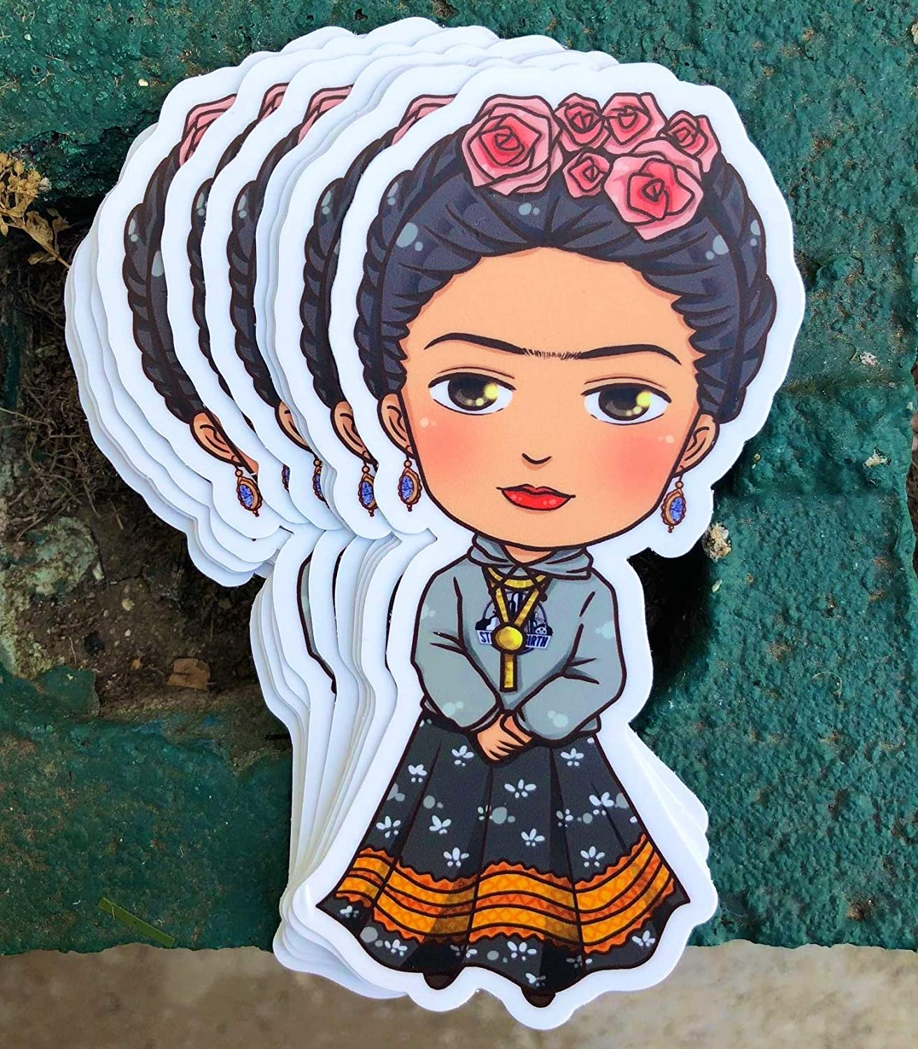 1 Gorgeous Miss UniBrow Sticker - One 5 Inch WaterProof Vinyl - Decal For Hydro Flask Skateboard Laptop etc