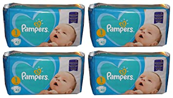 55300fabe5 172 Pampers New Baby-Dry Windeln , Gr. 1, 2-5 Kg, New Born: Amazon ...