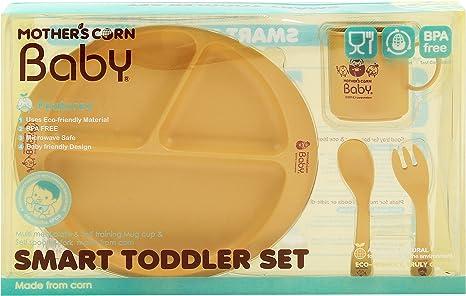 Mother s Corn de bebé, de niños – Set de vajilla, biodegradable ...