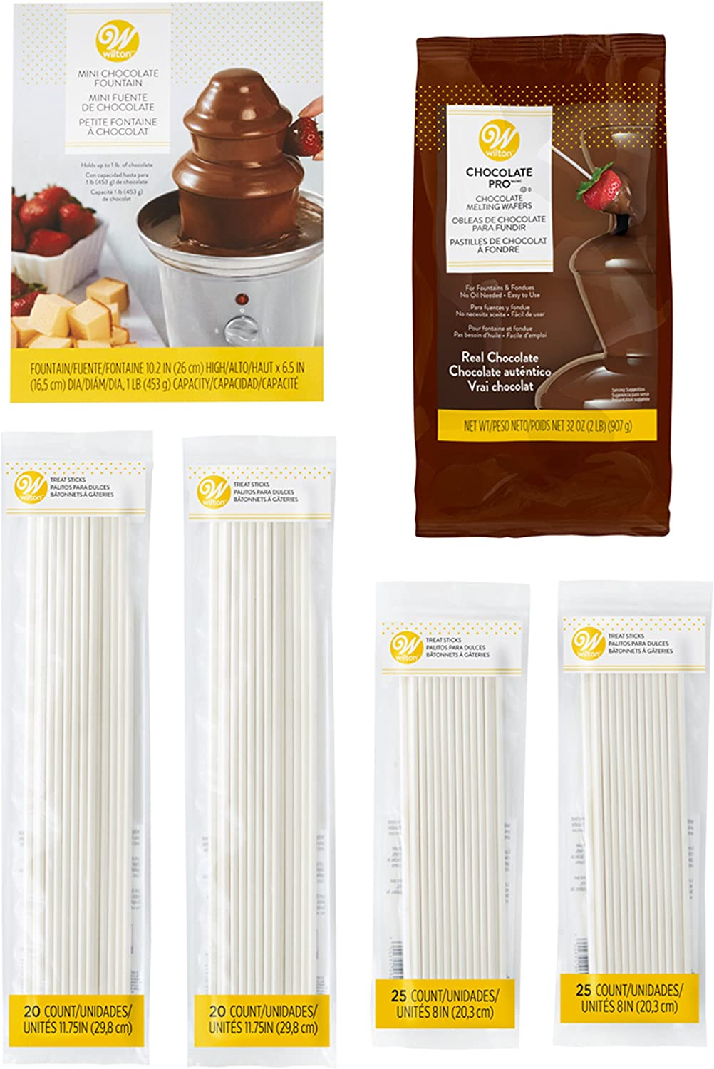 Chocolate fountain complete party pack Chocol dipping items for For 50 people
