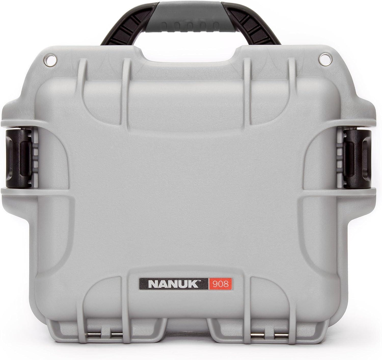 Nanuk 908 Waterproof Hard Case - Silver