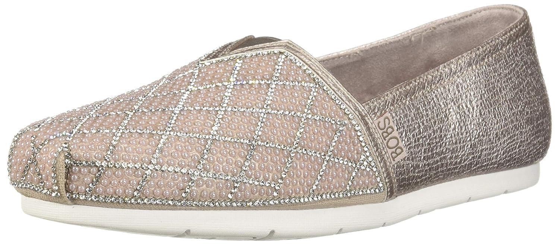 Skechers BOBS Women's Luxe Bobs Pears Rhinestone Slip on Ballet Flat