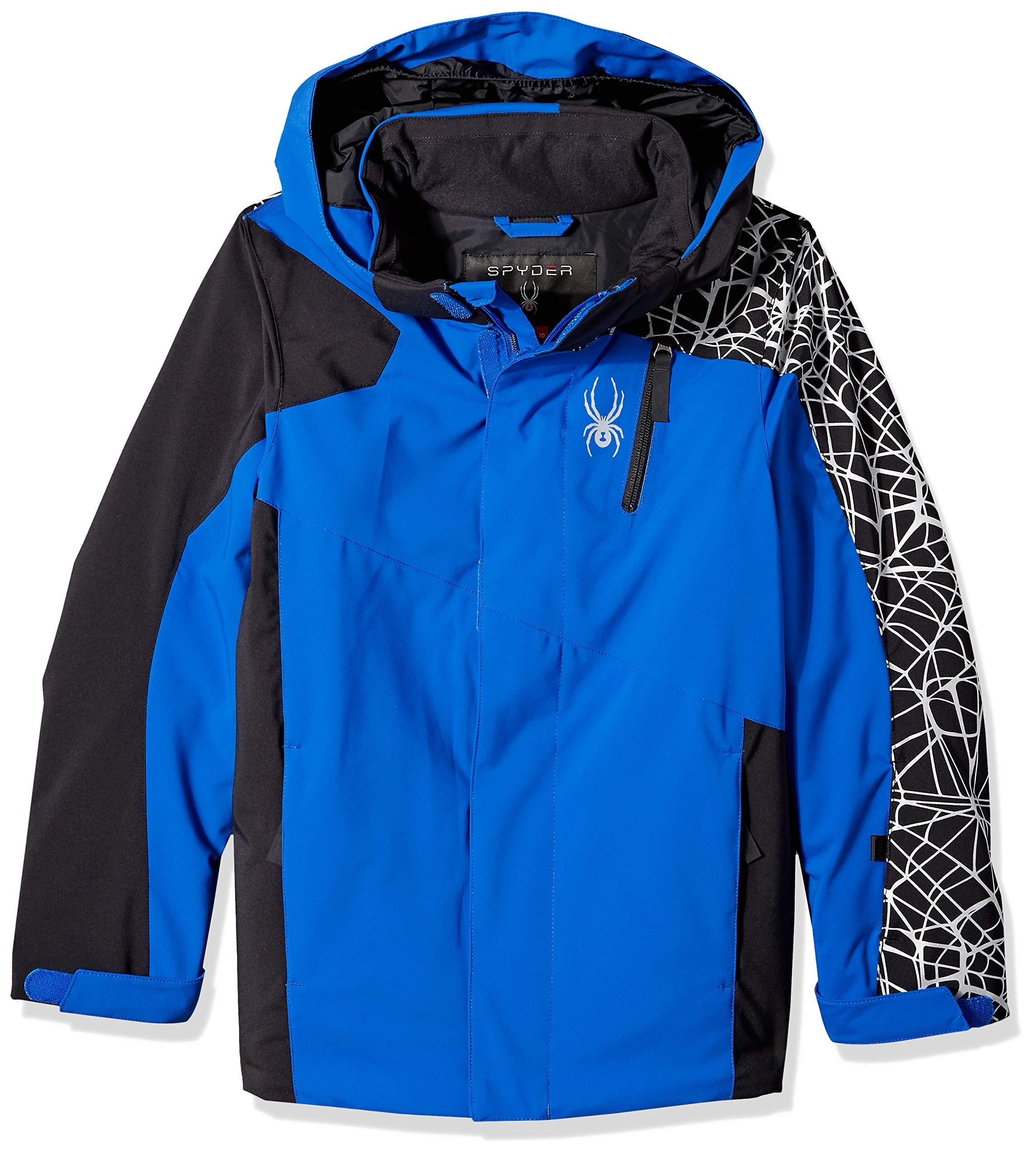 Spyder Boys' Guard Ski Jacket, Turkish Sea/Black, Size 8
