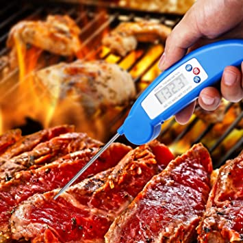 Bluefire Digital Lectura Instantánea Termómetro de cocina ...
