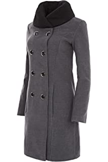fb0c3d150664 Laeticia Dreams Damen Winter Mantel Fleece Mantel mit Pelz XS S M L ...
