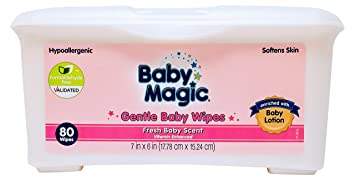 Baby Magic Fresh Scented Wipes, White, Large, 80 Count