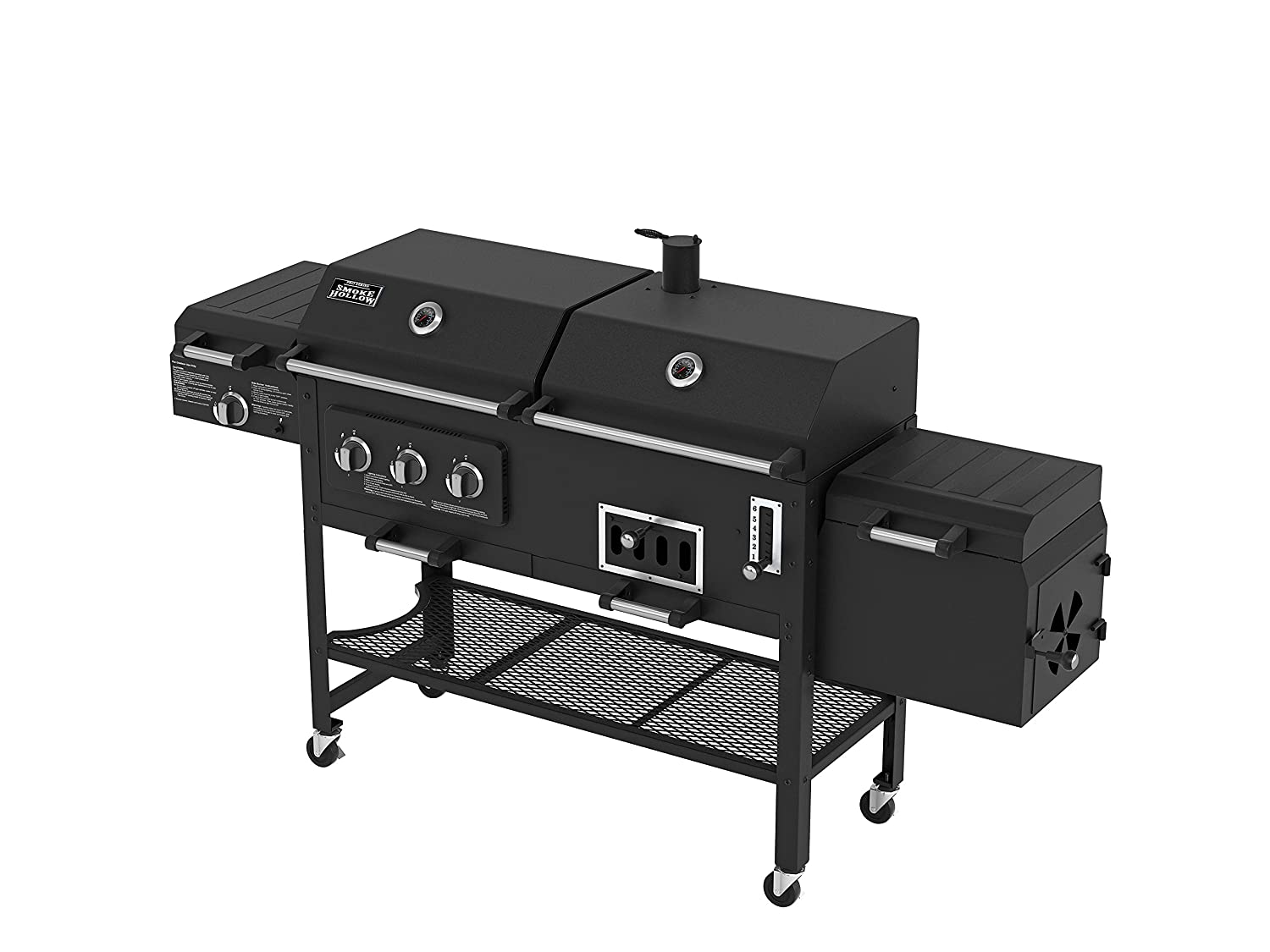 amazon com smoke hollow 8500 lp gas charcoal grill with firebox