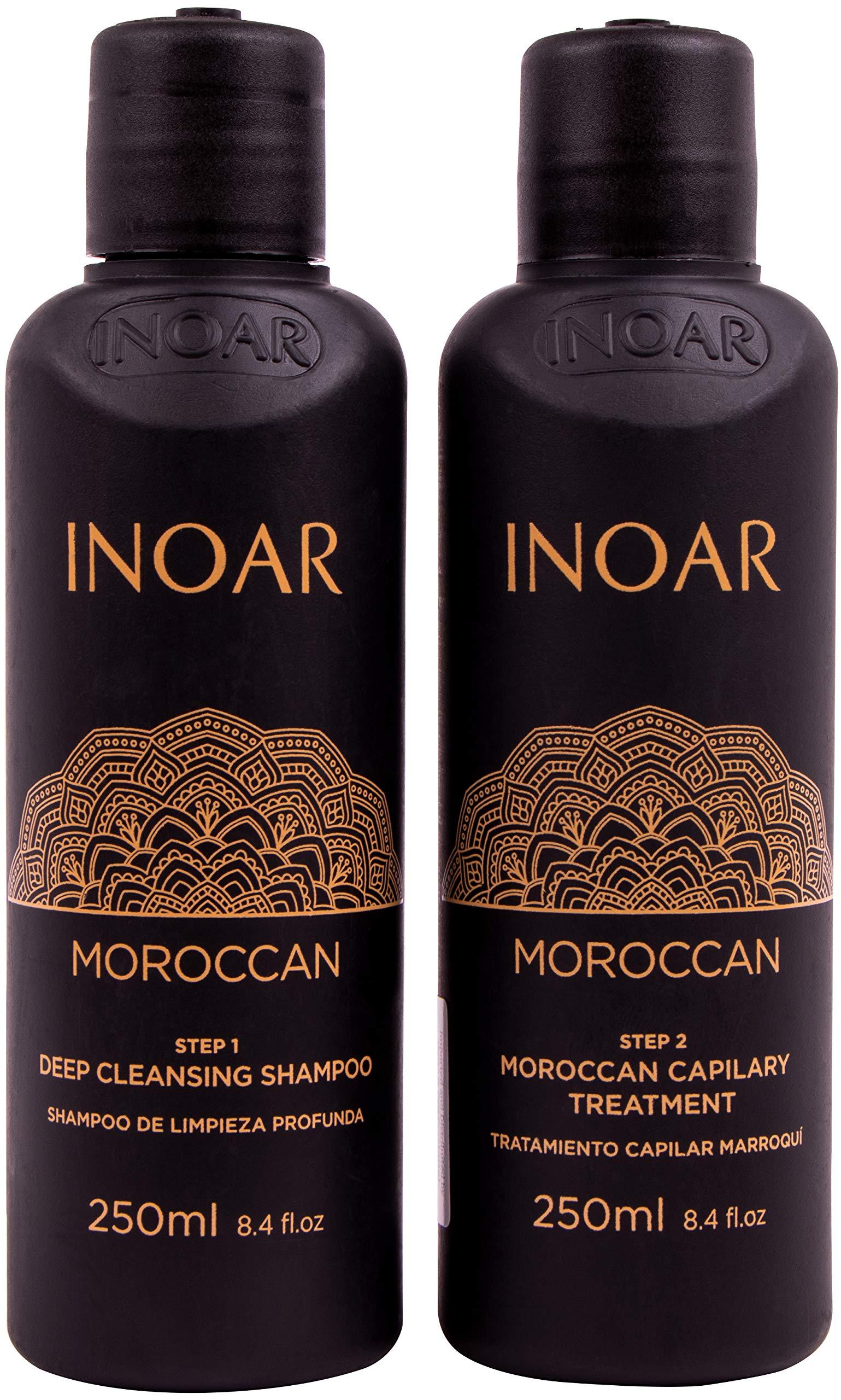 Inoar Moroccan Brazilian Blowout Keratin Kit, 33.8oz/250ml