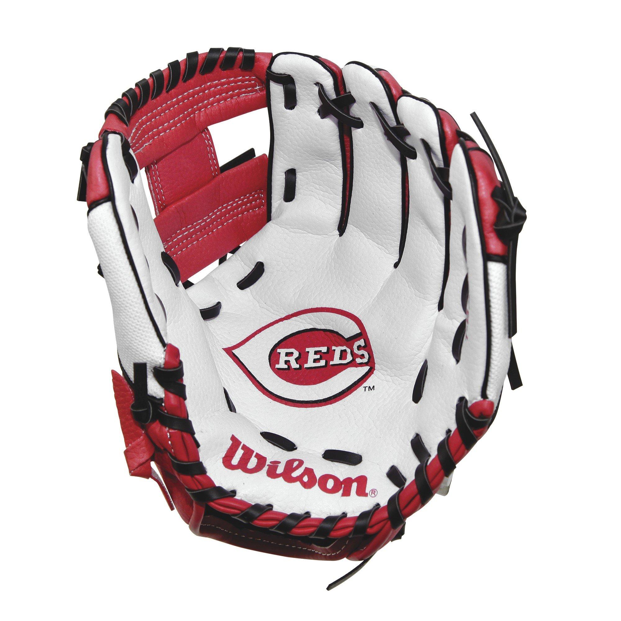 Wilson A200 10'' Cincinnati Reds Glove Right Hand Throw, Red/White/Black