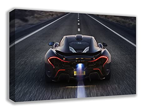 MCLAREN P1 SUPERCAR HIGHWAY CANVAS WALL ART (30u0026quot; ...