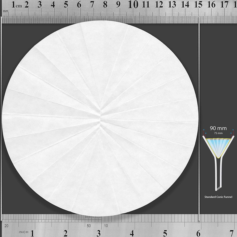 Set of 3 x 100 Discs Qualitative Grade 1 ZENPORE Medium Flow 125 mm Folded Pre-Pleated 12.5 cm Fluted Filter Paper