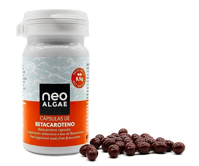 Cápsulas de Betacaroteno Neoalgae   Bronceado Natural   Antioxidante   30 Cápsulas En Forma De Perlas