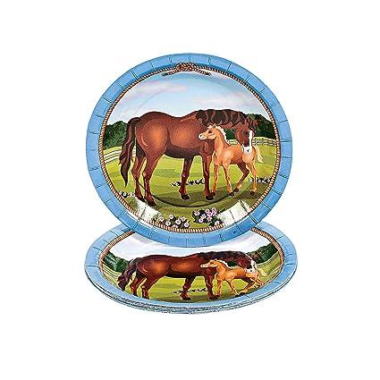 Amazon.com: Fun Express - Mare & Foal Dessert Plates (8pc) for ...