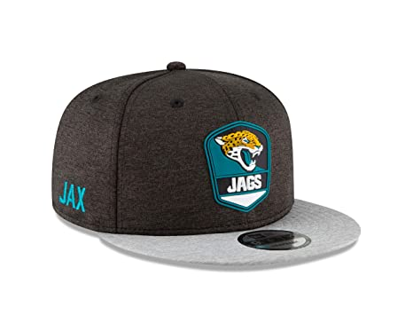 Image Unavailable. Image not available for. Color  New Era Jacksonville  Jaguars 2018 NFL Sideline Road Official 9FIFTY Snapback Hat 17551ce978e