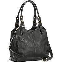 Big Handbag Shop BHBS - Sac à main pratique pour femme - Multiple poches de rangement et longue bandoulière adjustable