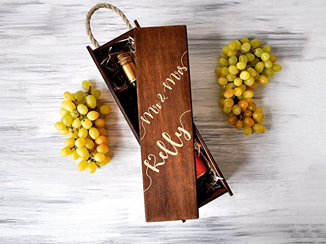 Amazon Personalized Wine Box Wedding Gift For Couple Gift For
