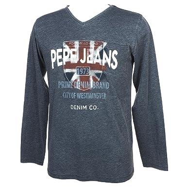 la meilleure attitude 6514c 583a9 Pepe Jeans T-Shirt Enfant Jordan PB501423 Ocean 588: Amazon ...