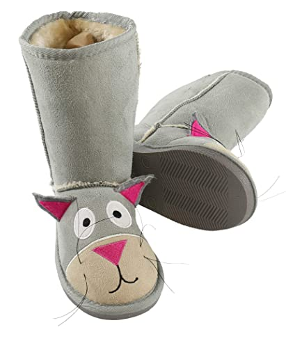 80a9df9a7b8 Cat Toasty Toez Cute Animal Character Slippers for Kids by LazyOne