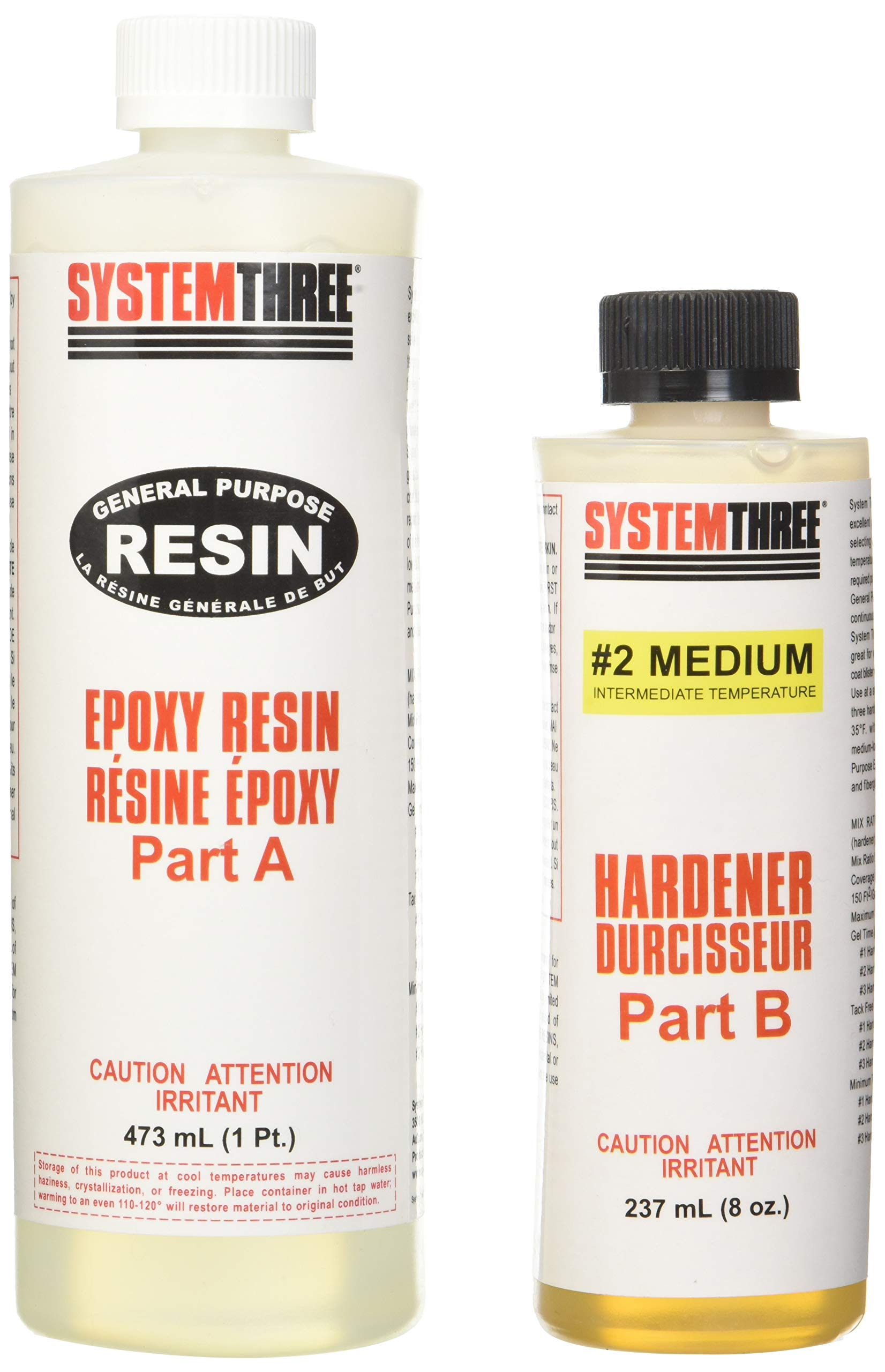 System Three 0102K40 General Purpose Epoxy Kit with #2 Medium Hardener, 1.5 Pints, Medium Amber by System Three (Image #2)