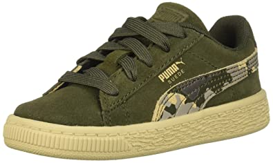 9601468b85d7 PUMA Baby Suede Classic Kids Sneaker Forest Night-Pebble 4 M US Toddler