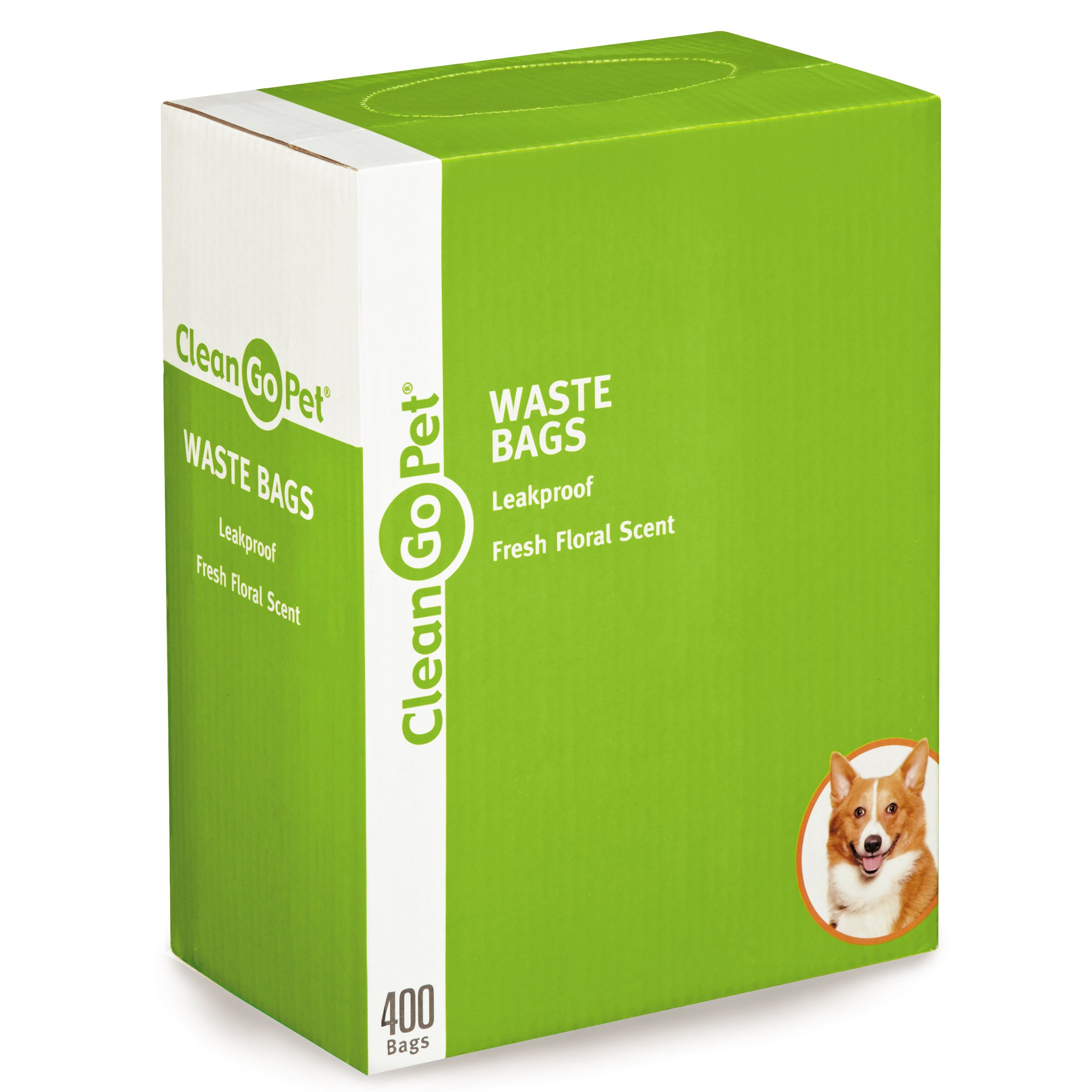 Clean Go Pet Fresh Scent Doggy Waste Bags 400-Count - Convenient, Leakproof, Plastic, Scented Poop Bags by Clean Go
