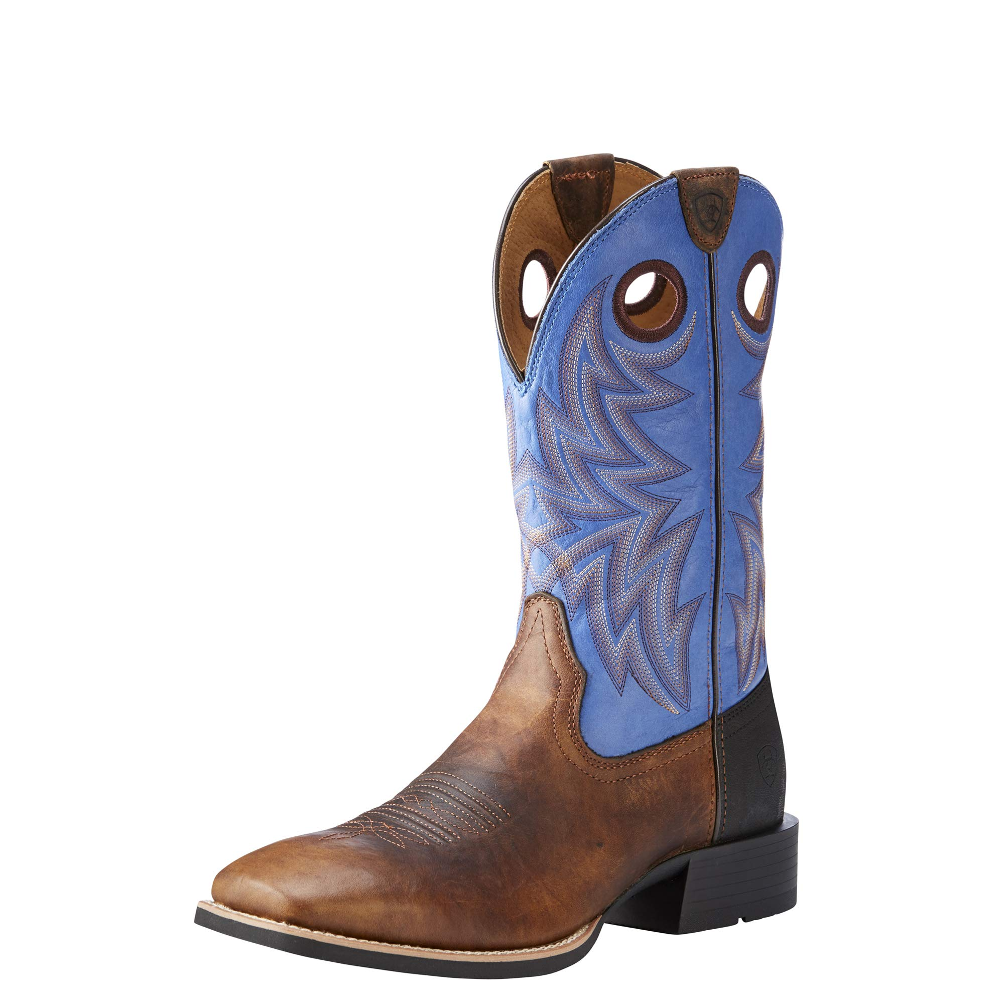 ARIAT Men's Heritage Cowhorse Western Boot, bar top Bison/tack Room Blue, 8 D US