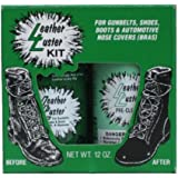 Leather Luster Kit Hi Gloss Patent Leather BLACK Finish for Gunbelts Shoes & Boots 12 oz
