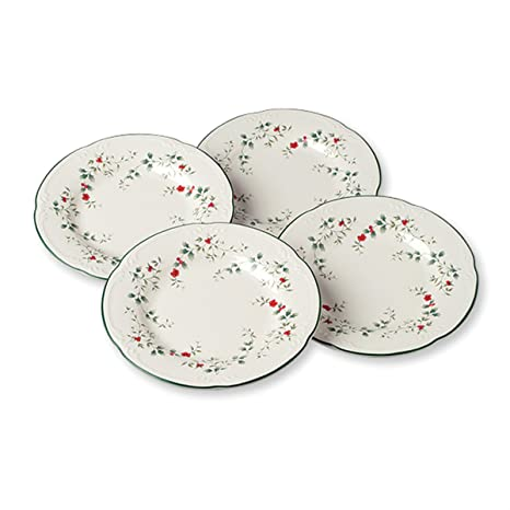 Pfaltzgraff Winterberry Salad Plates (8-Inch Set Of 4)  sc 1 st  Amazon.com : winterberry dinner plates - pezcame.com