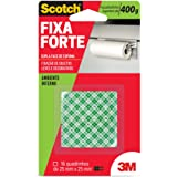 Fita Dupla Face 3M Scotch Fixa Forte Espuma - 16 quadradinhos