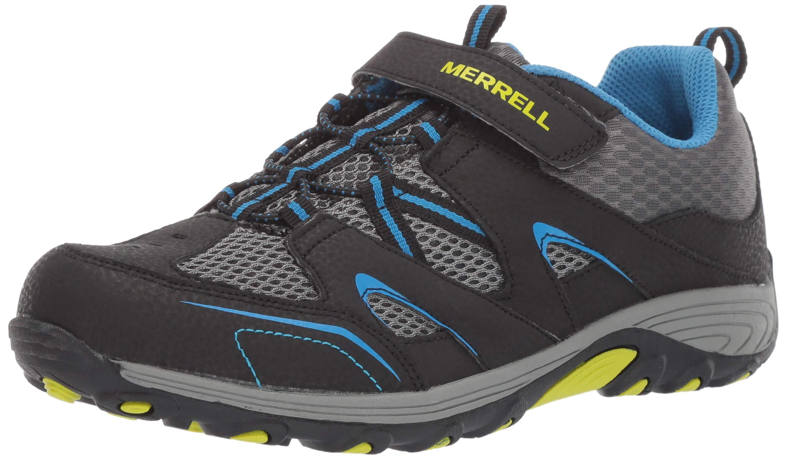 Merrell Boys' Trail Chaser Sneaker Black/Blue 5.5 Wide US Big Kid