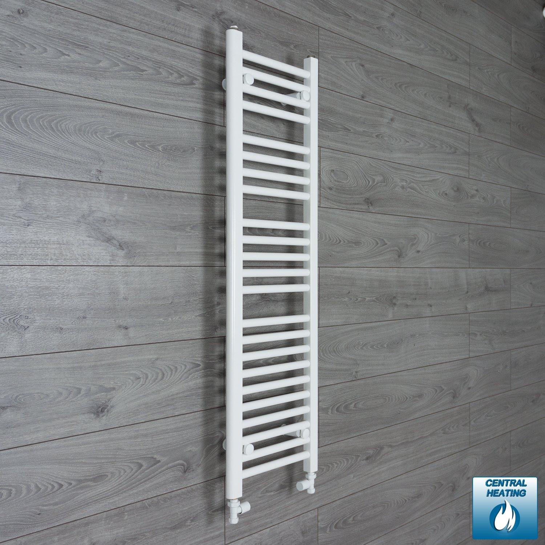 300 mm de ancho x 1200 mm plano de alta toallero recto de ba/ño en color blanco para radiador para calefacci/ón Central