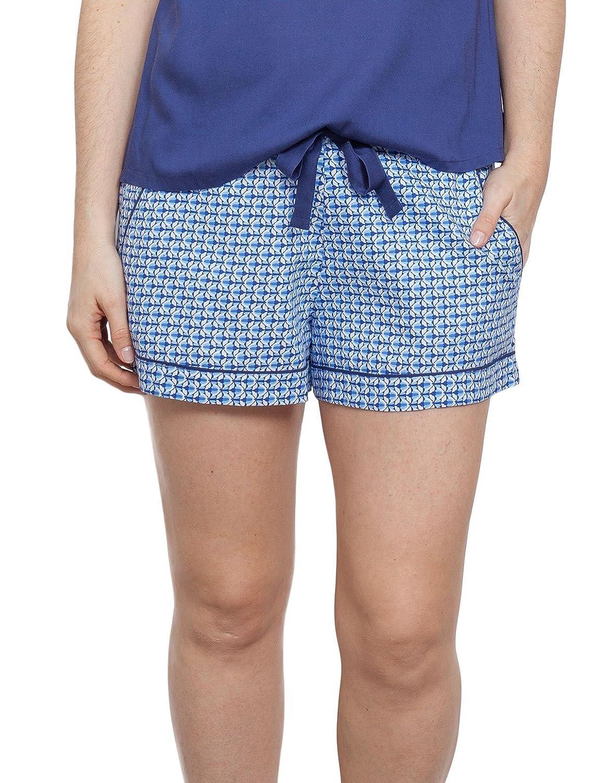 TALLA 42. Cyberjammies 3759 Women's Ophelia Blue Tile Print Pajama Pyjama Short