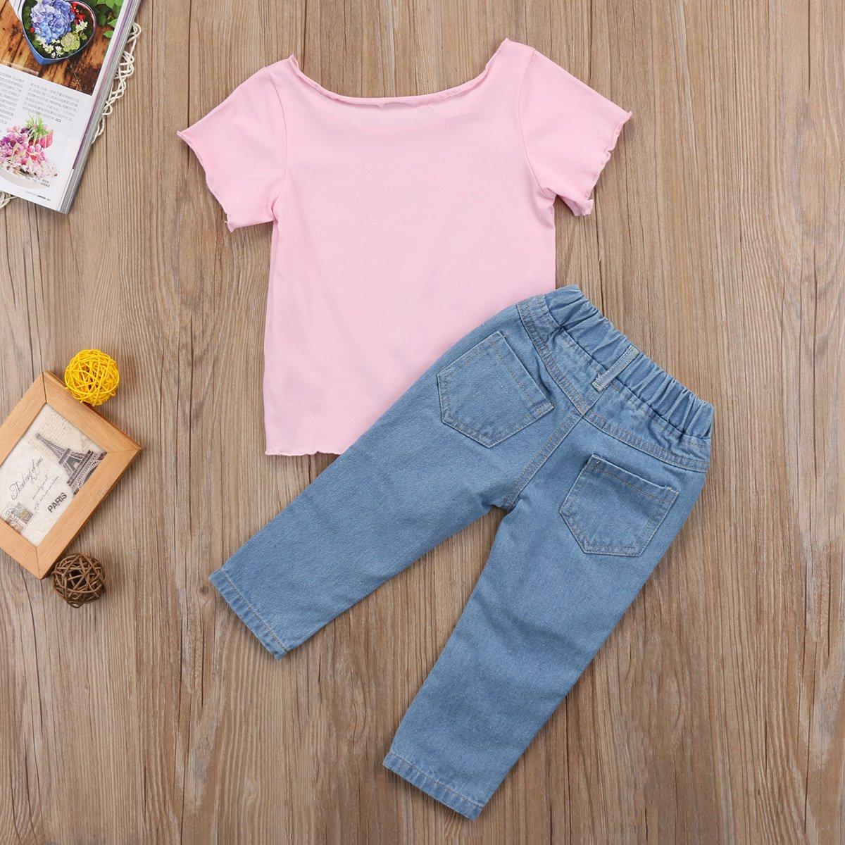 Amazon.com: sunisery niños bebé niñas carta impresión ...