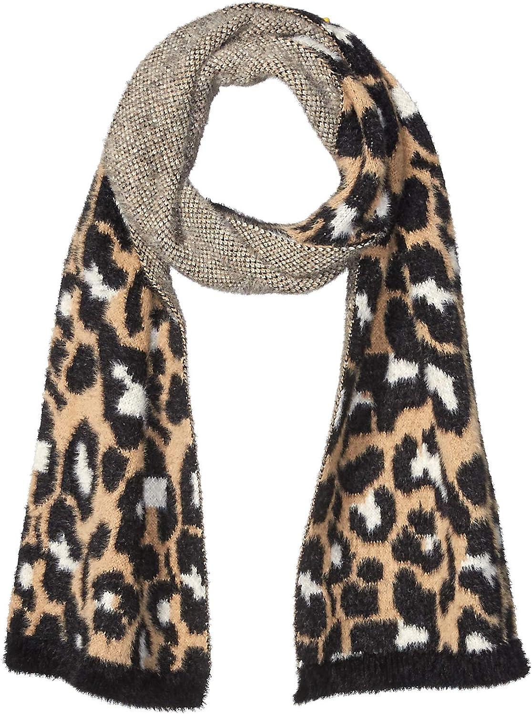 Amazon Brand - Daily Ritual Womens Animal Print Fuzzy Knit Scarf  One Size