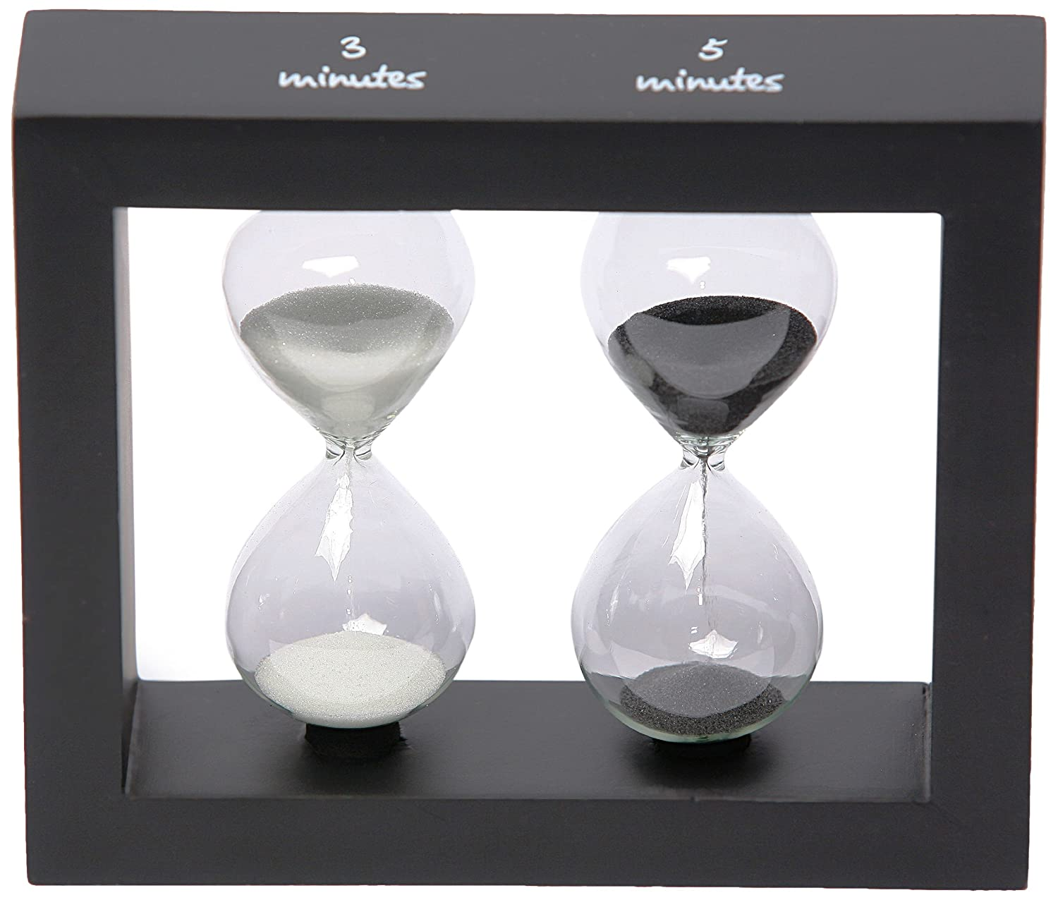 G.W. Schleidt STW1218-B 3 and 5 Minute Egg and Tea Timer - Black Frame