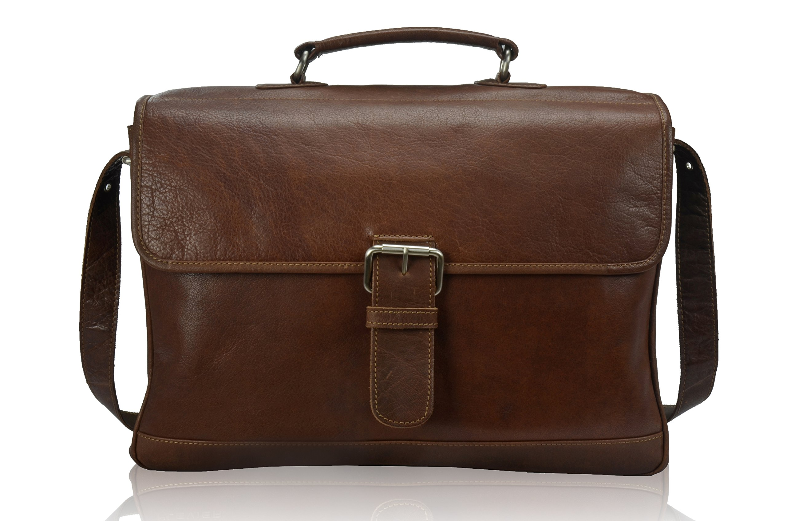TONY'S BAGS - 15.6 inch Laptop bag - College Bag, Office Bag, Business Bag Briefcase in Vintage Style