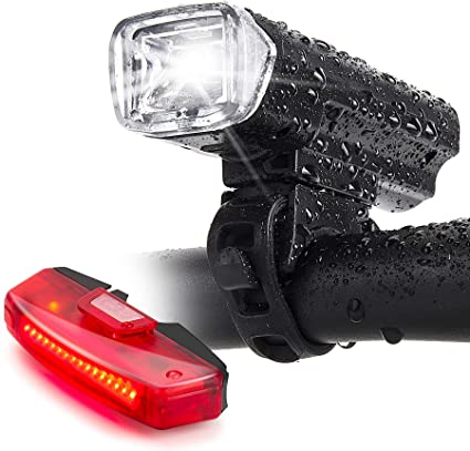 2 in 1 USB Rechargeable Bicycle Light Head LED Flashlight With Bell Luces Bicicl
