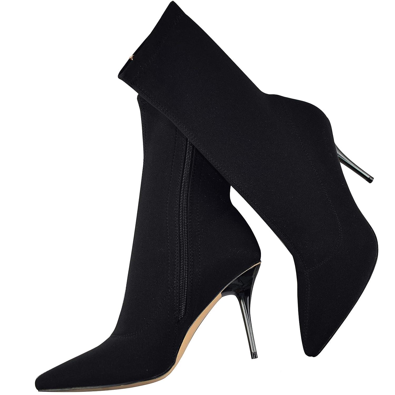 9604aabd63383 ViVi Ladies High Heel Pointed Socks Western Mid Calf Boots