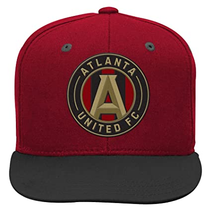 finest selection badba 69f81 Outerstuff MLS Atlanta United Boys Flat Visor Snapback, Victory Red, One  Size