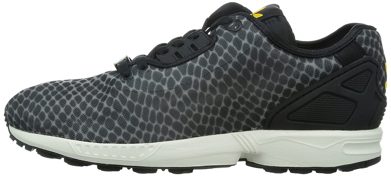 d91336377685b Adidas Originals ZX Flux Decon Trainers in Black   Collegiate Gold Print  B23724  Amazon.co.uk  Shoes   Bags