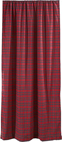Levtex Home – Plaid – Window Panel with Rod Pocket – One Curtain Panel 84 inch Length – Plaid – Red, Black, Blue – 100 Cotton Woven – Lined