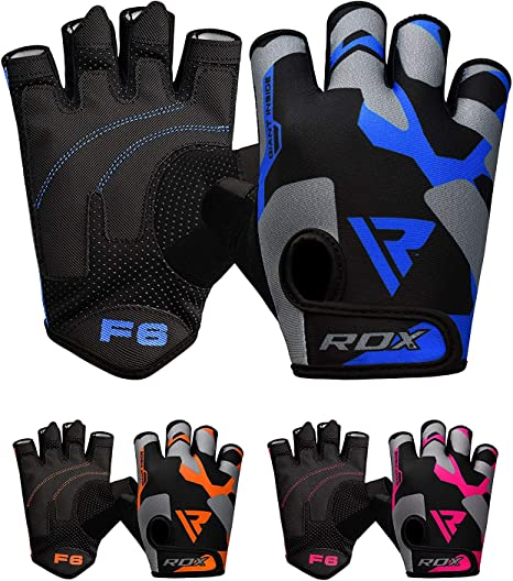Great Grip for Fitness Breathable with Anti Slip Palm Protection RDX Weight Lifting Gloves for Gym Workout Weightlifting Bodybuilding Powerlifting Strength Training /& Exercise