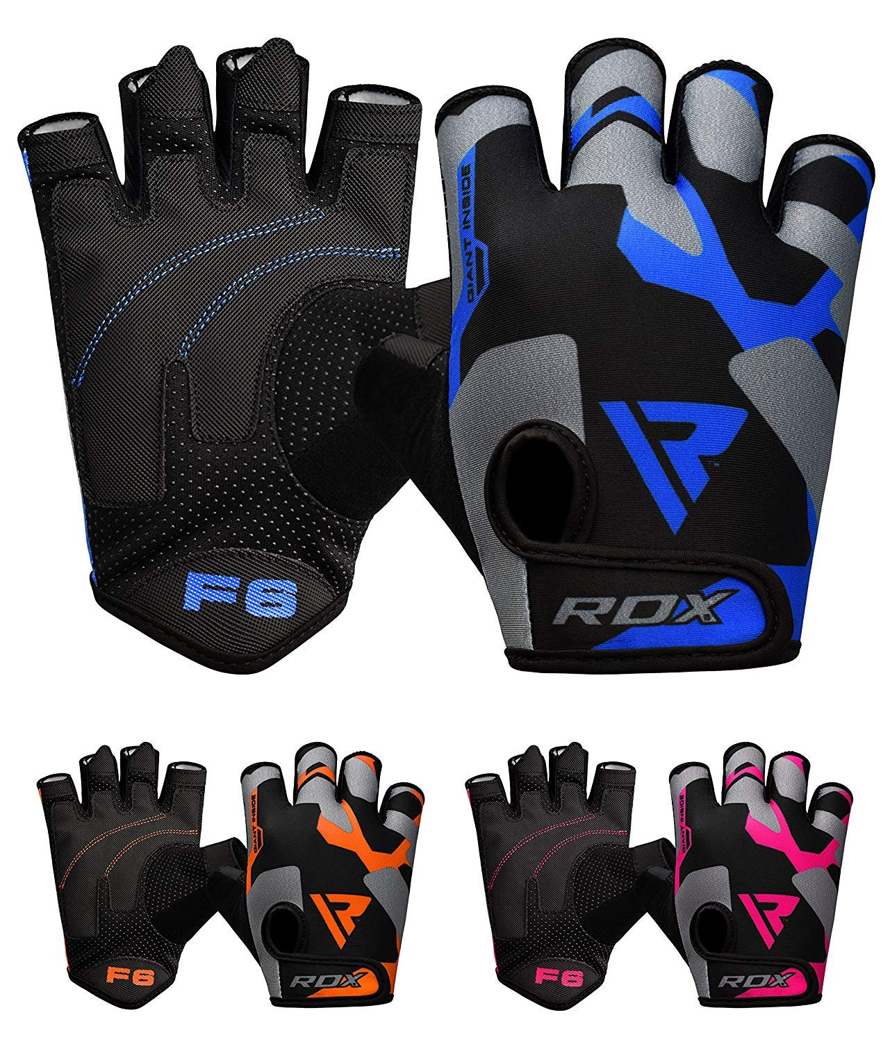 Strength Training Weightlifting /& Exercise Powerlifting Bodybuilding Long Wrist Support Strap with Anti Slip Palm Protection- Great Grip for Fitness RDX Weight Lifting Gloves for Gym Workout